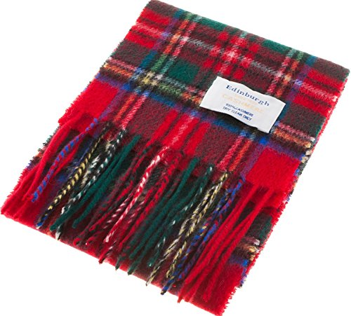 I Luv Ltd Kids Edinburgh Cashmere Scarf in Royal Stewart Tartan