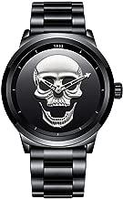 N·XHXL Cool Skull Horloge voor Mannen, RVS Quartz ...