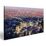Bild Bilder auf Leinwand Mailand Luftbild in der Nacht