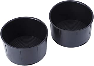 QianBao Recessed Cup Holder 2-Pack for Coffee Water Bottles Mug Car Cup Keeper Plastic Vehicle Accessory for 2009-2016 Dodge Ram 1500 2500 3500, Black
