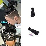 DSOAR 6 inch Handmade Dreadlocks Extensions Men's Dreadlocks Fashion Reggae Hair Hip-Hop Style 20 Strands/Pack Synthetic Dreadlocks Hair For Men