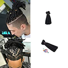 1.Materials:Japanese Imported High Temperature Fiber.Full Handmade. 2.Length:6inch/Black Color.About 2.4g/Strand.Width about 0.6cm/0.24inch,20 Strans/Pack. 3.You Will Looks Likes a Superstar With These Dreads.It's also the Hairstyle of MAYA and Hip-H...