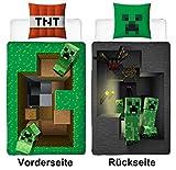 Familando Wende Bettwäsche-Set Minecraft Motiv, 135x200cm