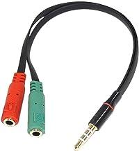 Drumstone 3.5mm Audio Jack to Headphone/Microphone Splitter Converter Adaptor Cable