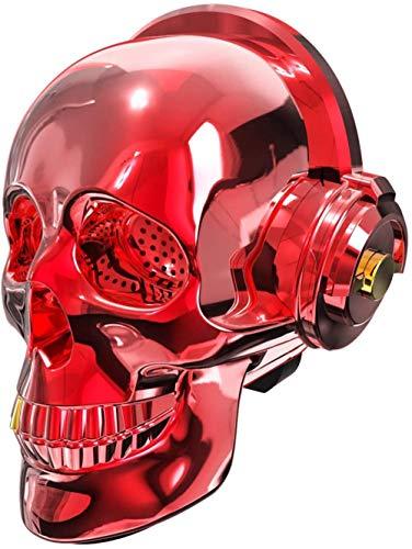 Altavoz inalámbrico Skull Head Creative Bluetooth LED Luces Lightspeaker Fiesta de decoración para el hogar-Rojo Baifantastic