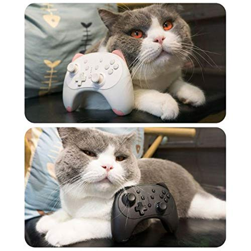Switch Controller, Dual Vibration & Gyro Axis Wireless Controller Switch Spiele, Remote Wake Up Gamepad Cartoon Kitten Switch Pro Controller