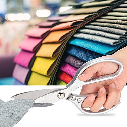 Tijeras forjadas, prácticas tijeras de acero inoxidable para coser en el hogar para la familia