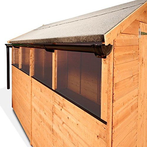 BillyOh Plastic Gutter System Kit (8ft), Ideal for Sheds & Outbuildings, Universal Fit