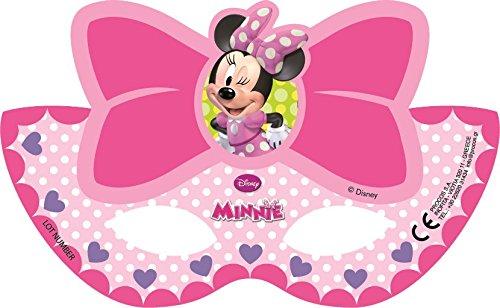 ALMACENESADAN Gabbiano, 27584, Pack 6 mascaras para Fiesta Disney Minnie Mouse