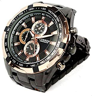 Curren Chronograph for Men - Analog Stainless Steel Band Watch