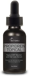 Propidren by Hairgenics Hair Growth Serum with Powerful DHT Blockers to Prevent Hair Loss, Stimulate Hair Follicles and He...