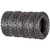 VANACC Set of 4 ATV/UTV Tires 25x8-12 Front & 25x10-12 Rear /6PR