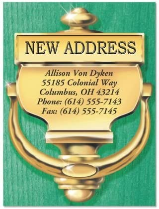 Classic Personalized Choice New Address Postcards Moving Set Ann Sale Special Price of 24