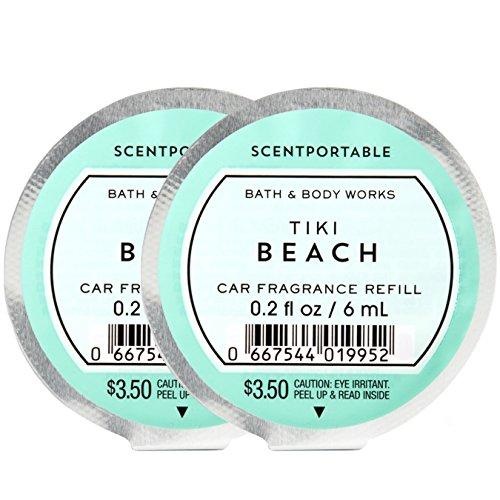 Bath and Body Works Scentportable Fragrance Refill Tiki Beach. 2 Set.
