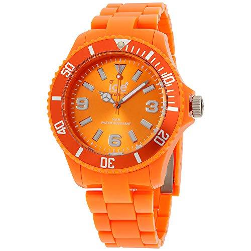 Ice Classic Solid Orange Dial Plastic Strap Men's Watch CSOEBP10