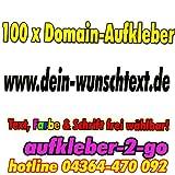 100cm, 100 Stück Domainaufkleber, Text & Farbe frei wählbar, www.dein-wunschtext.de