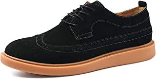 2019 Mens New Lace-up Flats Men's Oxford Shoes, Casual Comfortable Breathable Classic Carved Lace-up Brogue Shoes