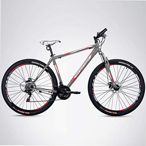 Bergsteiger Detroit 29 Zoll Mountainbike, geeignet ab 170 cm, Scheibenbremse, Shimano 21 Gang-Schaltung, Gabel-Federung mit Lockout-Funktion, Jungen-Fahrrad & Herren-Fahrrad - 3