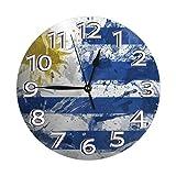 GOSMAO 25cm (9.8') Redondo Reloj de Pared Silencioso No Tick