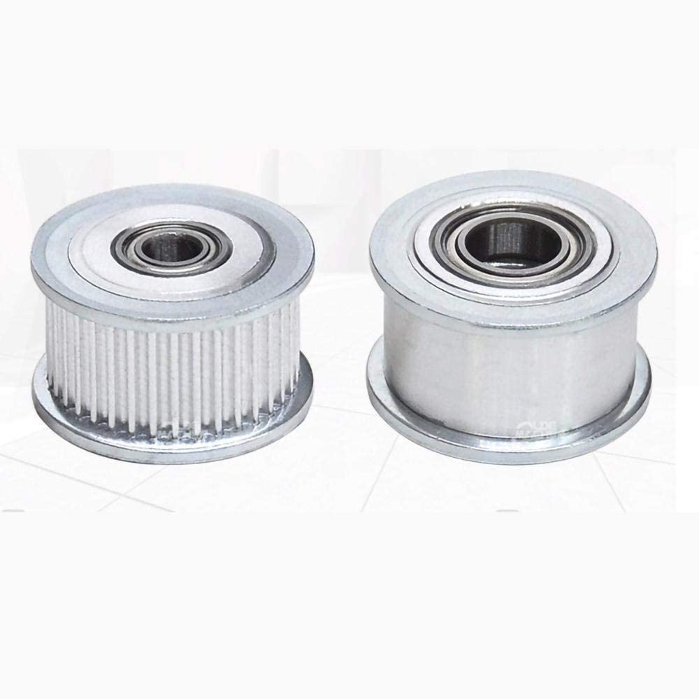 Compatible 1Pcs 30-40 Year-end annual account Teeth MXL National uniform free shipping Timing Aluminum Wit Pulley Idler