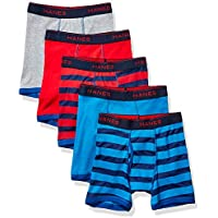 5-Pack Hanes Boys' Comfort Flex Fit Sport Ringer Boxer Briefs (Large) (Assorted Solids)