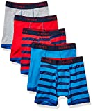Hanes Boys' Comfort Flex Fit Sport Ringer Boxer Briefs, Assorted Solids, X-Large