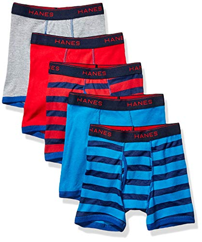 Hanes Boys' Comfort Flex Fit Sport Ringer Boxer Briefs, Assorted Solids, Medium