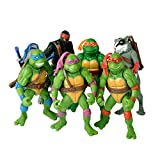 Ninja Turtles 6 PCS Set TMNT Action Figures - Ninja Turtles Toy Set - Ninja Turtles Action Figures Mutant Teenage Set