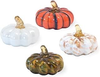 Boston International Little Pumpkins Autumn Multicolored 3 x 2 Glass Boxed Figurines Set of 4