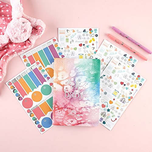 Erin Condren Designer Petite Planner Pregnancy Bundle - Includes Pregnancy Petite Planner and Illustrative, Functional, and Cute Stickers for Customization