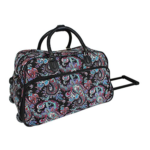 World Traveler 21-Inch Carry-On Rolling Duffel Bag, Paisley