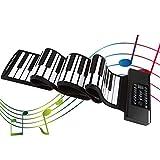 InLoveArts Teclado Electronico Portátil Flexible,Piano plegable 88 teclas Piano Teclado Silicona Flexible Enrrollable Piano Soporte MIDI y Bluetooth para regalo de principiantes