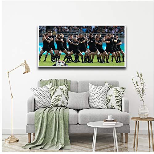 A&D Fußballer Wandkunst Leinwand Malerei Wandkunst Malerei Bilder Home Badezimmer Dekoration Kreative Home Dekoration Druck auf Leinwand -60x90cm Kein Rahmen