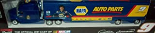 Action Racing 2014 Chase Elliott #9 NAPA Auto Parts 1/64th Scale Hauler Trailer Semi Rig Truck Tractor is Diecast Metal Trailer is Plastic