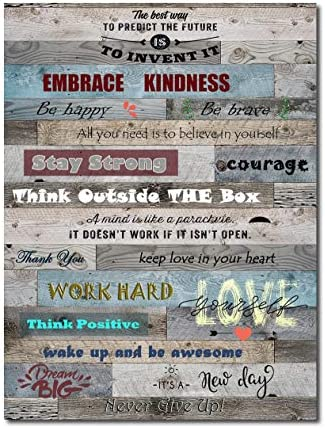 Yatehui Positive Quotes Wall Decor Inspirational Wall Art for Office Motivational Canvas Prints product image
