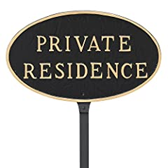 Features Raised Cast Lettering 23 in. Lawn Stake Included Black with Gold Lettering Hand Cast with Recycled Aluminum Proudly Made in the USA
