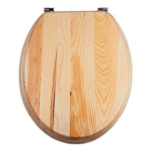 MSV WC Sitz Toilettendeckel MDF Holzkern Kiefernholz Scharniere aus Edelstahl - hochwertige und stabile Qualität …
