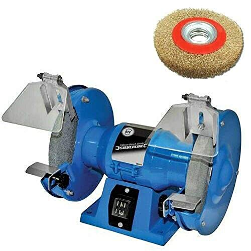 150mm Electric Bench Grinder Plus 6' Wire Wheel Brush