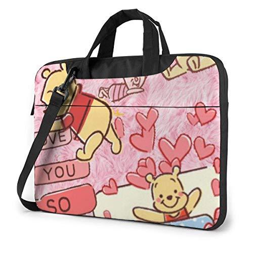XCNGG Ich Liebe Dich Winnie Laptoptasche Business Aktentasche für Männer Frauen, Schulter Messenger Laptoptasche Tragetasche - 15,6 Zoll
