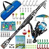 Best Telescopic Fishing Rods - PLUSINNO Kids Fishing Pole, Portable Telescopic Fishing Rod Review