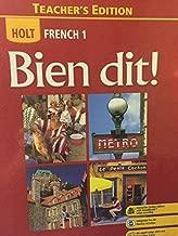 Holt French 1: Bien dit! Teacher's Edition