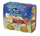 Hero Baby Buenas Noches Tarritos de Pollo con Verduritas -Para Bebés a partir de 6 meses - Pack 2 x 190 g