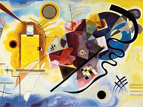 1art1 Wassily Kandinsky - Gelb Rot Blau, 1925, 2-Teilig Fototapete Poster-Tapete 240 x 180 cm