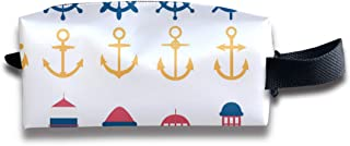 Nautical Set Steering Wheel Lighthouse Anchor_80 Portable Travel Toiletry Bag Makeup Organizer Cosmetic Bag Pouch For Women Girl