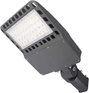 Tenaxi LED Parking Lot Lighting, 150W, 19500lm(700W HID/HPS Replacement), 5000K, IP 65 Waterproof, AC100-277V, Shoebox Light Fixtures for Street, Area, Stadium, Pathway Outdoor Commercial Lighting