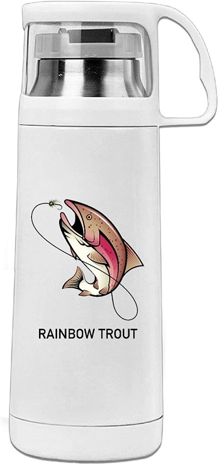 Youx Rainbow Trout Drinking Coffee Bottle Travel Mug Insulation Cup