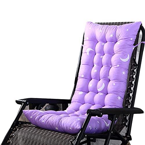 Dastrues Long Cushion, Recliner Rocking Non-Slip Chair Cushion, Patio Chaise Lounger Cushion, Thick Padded Seat Cushion Rattan Chair Sofa Mat for Home Car Hotel by