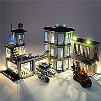 POXL LED Beleuchtungsset Licht Set Für Lego City Polizeiwache - LED-Kabel Licht Kit Für Lego 60141- Ohne Lego Set