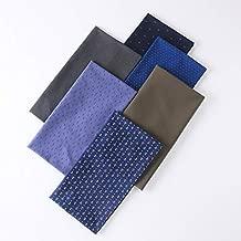 6pcs Multi-Colors Fabric Squares Quilting Sewing Material Pre-Cut Quilt Squares Fabric DIY Arts Crafts Textile 17x18 inch (43cm x 48cm) (Dark Colors)