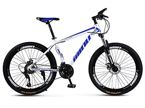 WANG-L Bicicleta De Montaña De 26 Pulgadas MTB para Adultos Hombres Mujeres Carreras Todoterreno Bicicleta De Velocidad Variable Absorción De Impactos Bicicleta para Niño Y Niña,Blue-21speed